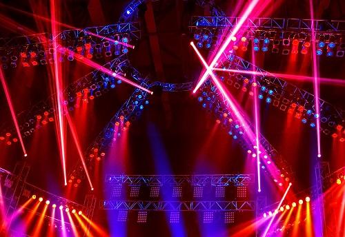 une lyre LED